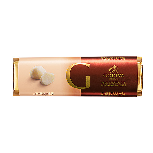 Godiva Bar Milk Chocolate & Macadamia Nuts, 45 g