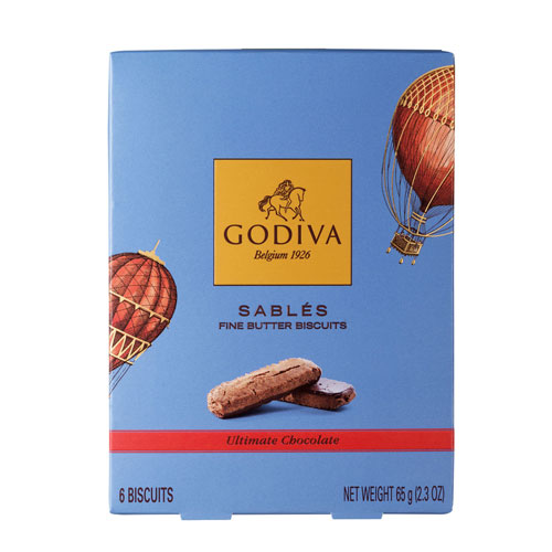 Godiva Biscuits Sablés Ultimate Chocolate, 65 g