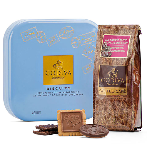 Godiva Coffee and Biscuit Gift Set