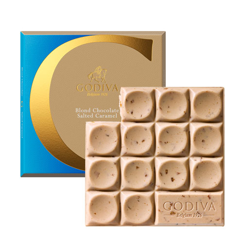 Godiva Tablet Blond Chocolate Salted Caramel Mexican Origin