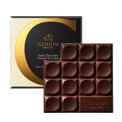 Godiva Tablet Dark Chocolate Toasted Coconut, 75 g