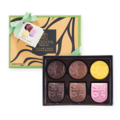 Godiva Icônes d'Or Limited Edition, 6 pcs