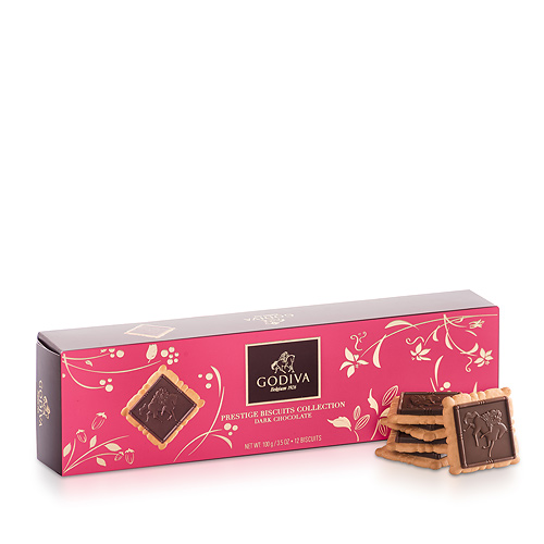 Godiva Prestige Biscuits Dark Chocolate, 100 g