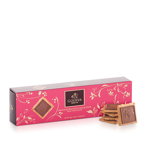 Godiva Prestige Biscuits Milk Chocolate, 100 g