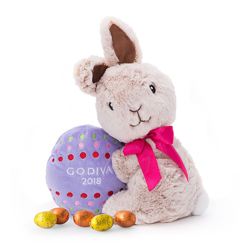 Godiva Plush Bunny With Easter Eggs