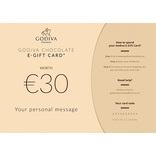 Godiva Chocolate E-Gift Card : 30 Euro