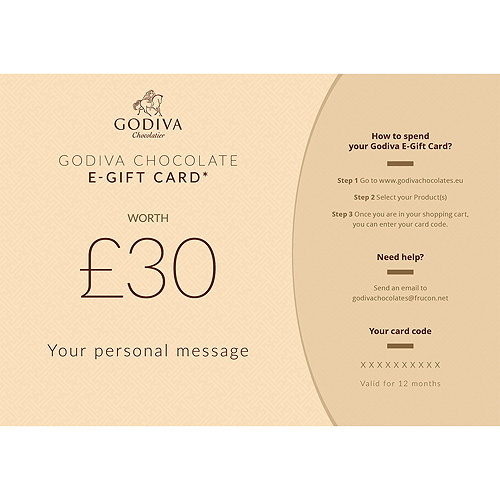 Godiva Chocolate E-Gift Card : 30 Pound