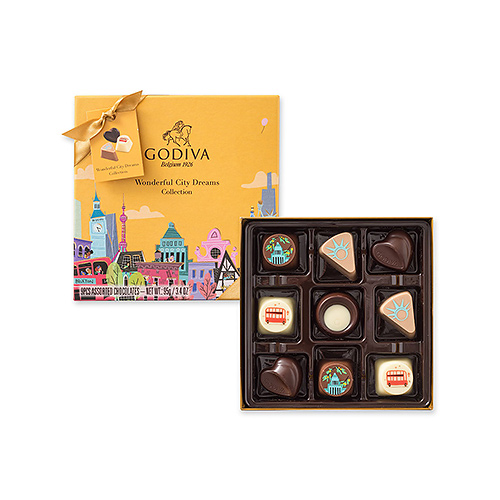Godiva Wonderful City Dreams, 9 pcs