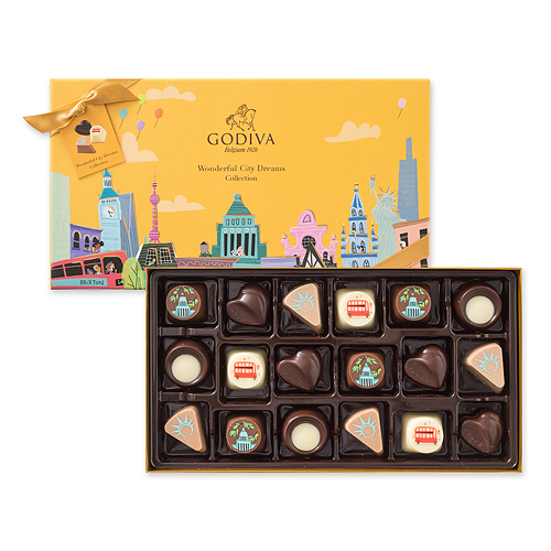 Godiva Wonderful City Dreams, 18 pcs