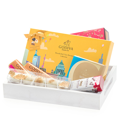 Godiva Set Cadeau Wonderful City Dreams Sur Plateau