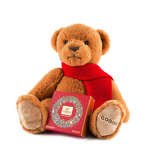 GodivaChristmas Bear with Chocolate