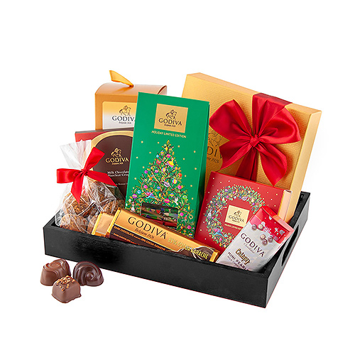 Godiva Tray of Christmas Treats