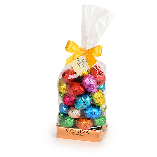 Godiva Bag with Chocolate Easter Eggs, 350 g
