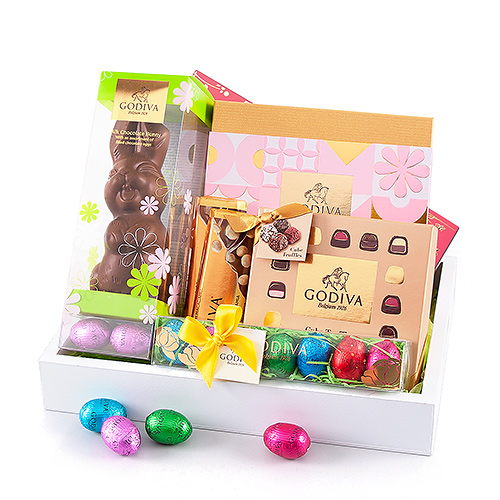 Godiva Chocolate Easter on White Tray