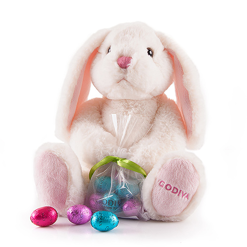 Godiva Easter Plush Bunny & 8 Eggs