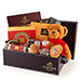 Godiva Christmas Croco Hamper with Teddy Bear [01]