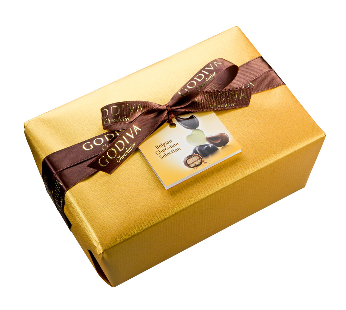 Godiva Gold Wrapped Ballotin 1 kg - Delivery in Europe Others - Godiva