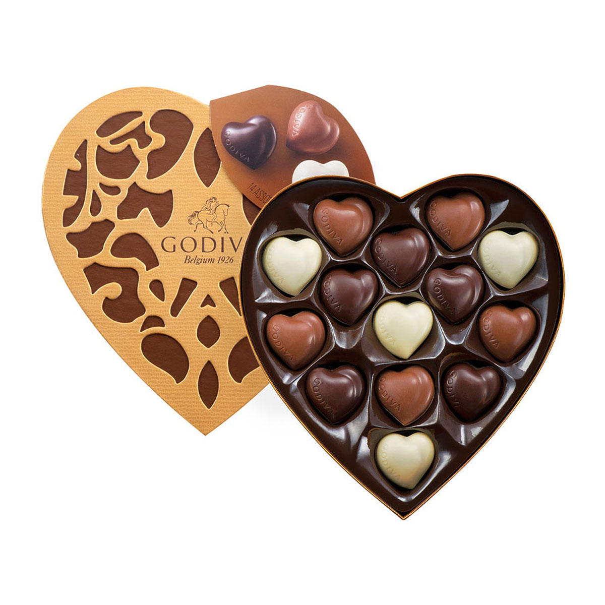 Godiva Cœur Selection 14 Chocolates - Delivery in Europe Others ...