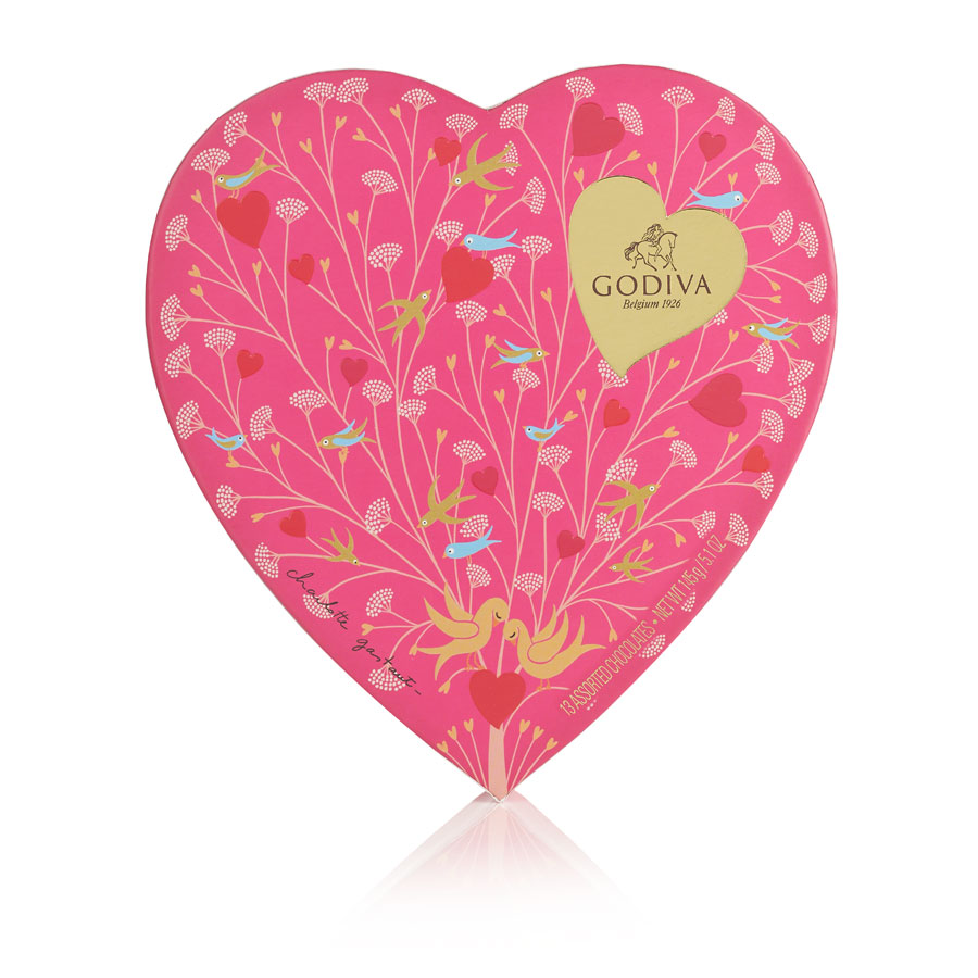 Godiva Valentine's Heart Shaped Gift Box 14 pc - Delivery in ...