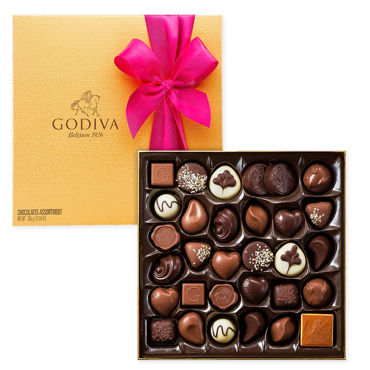 Godiva Decorated Gold Box, 34 pcs - Delivery in Europe Others - Godiva