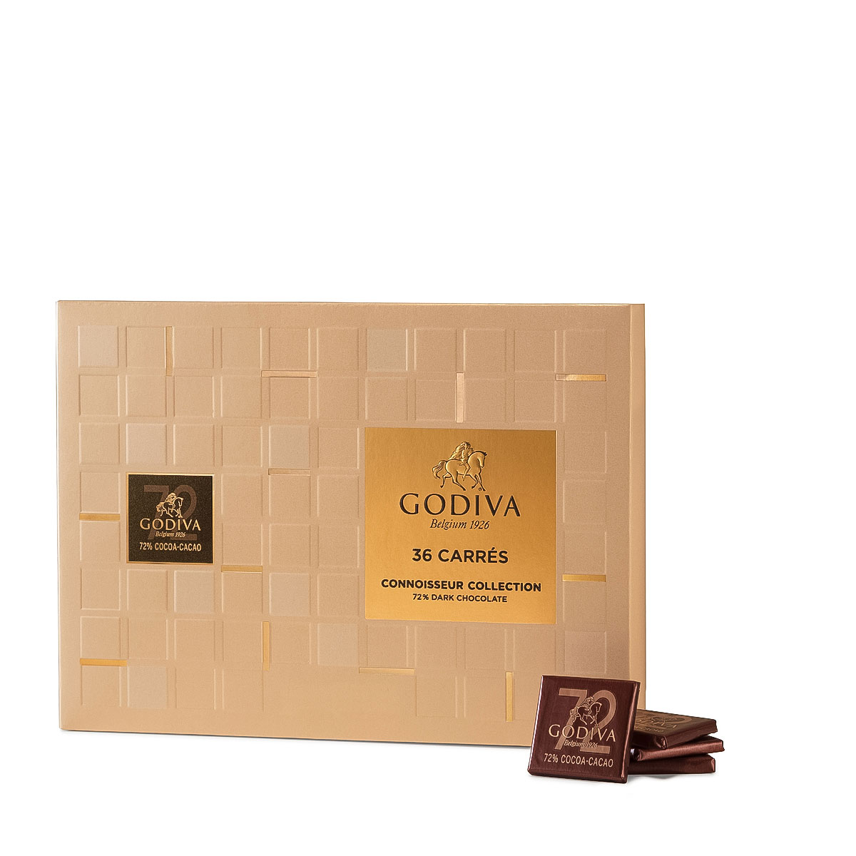 Godiva Carrés Dark 72%, 36 pcs - Delivery in Europe Others - Godiva