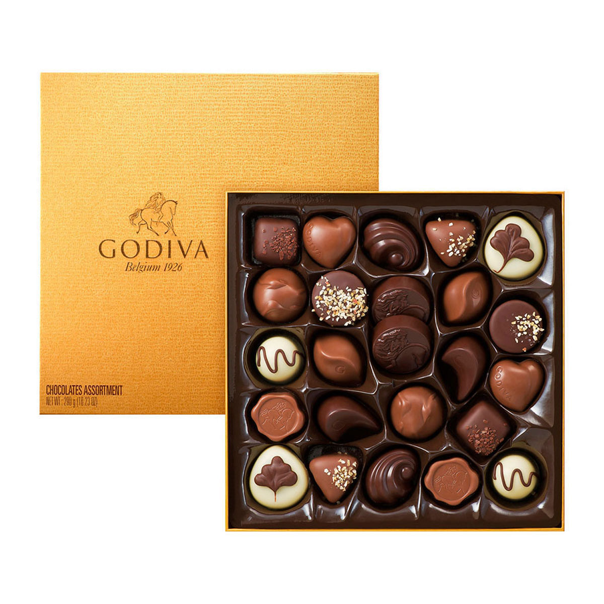 Godiva Gold Rigid Box 24 Chocolates - Delivery in Europe Others ...