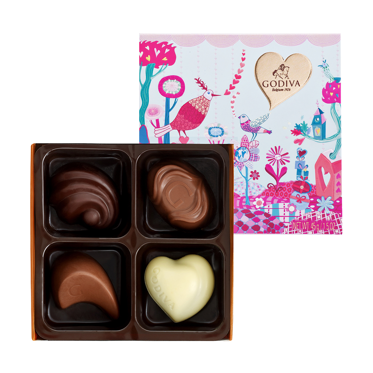 Godiva Luscious Chocolate Valentine Gift - Delivery in Europe ...