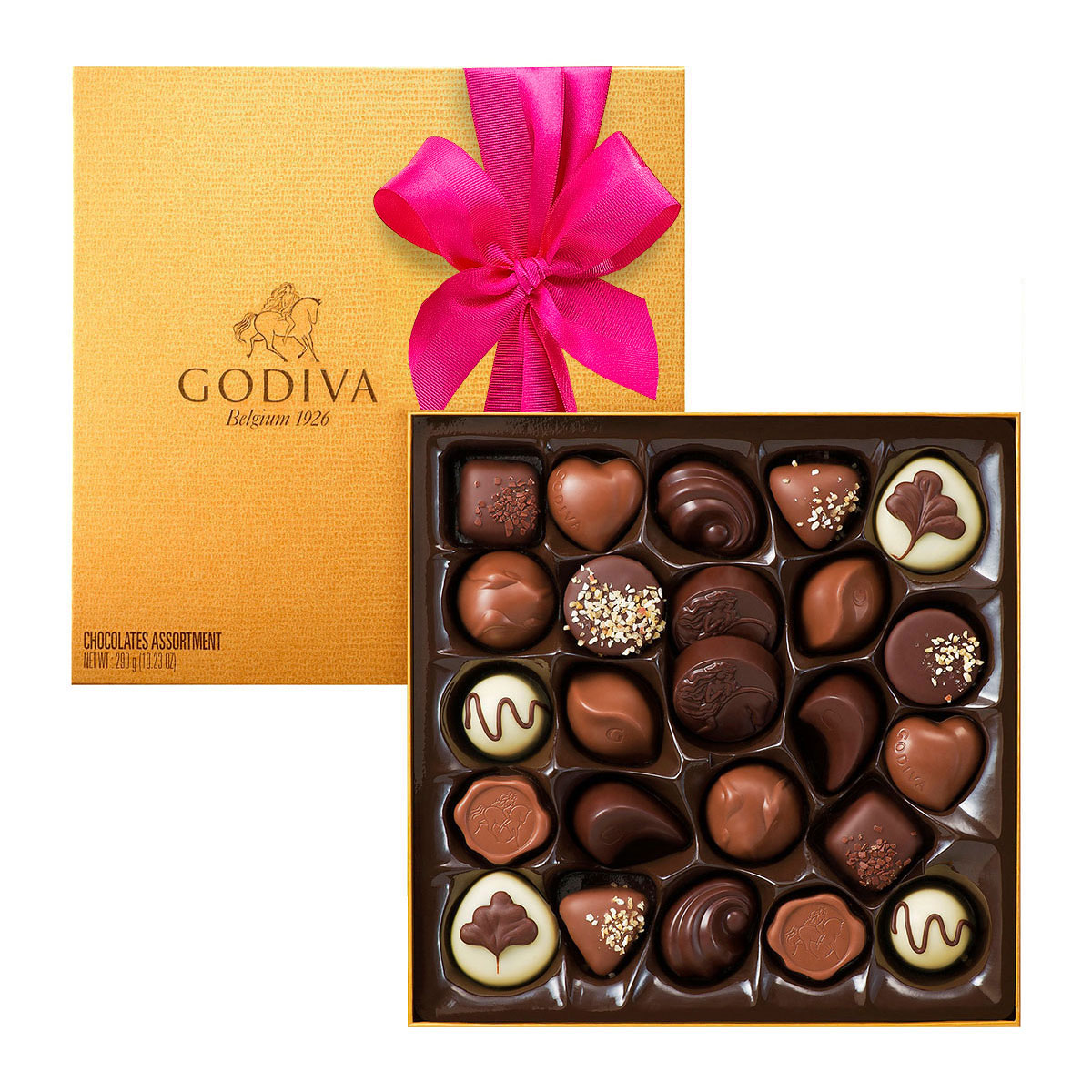 Godiva romantic gift box for her delivery in europe for Go diva