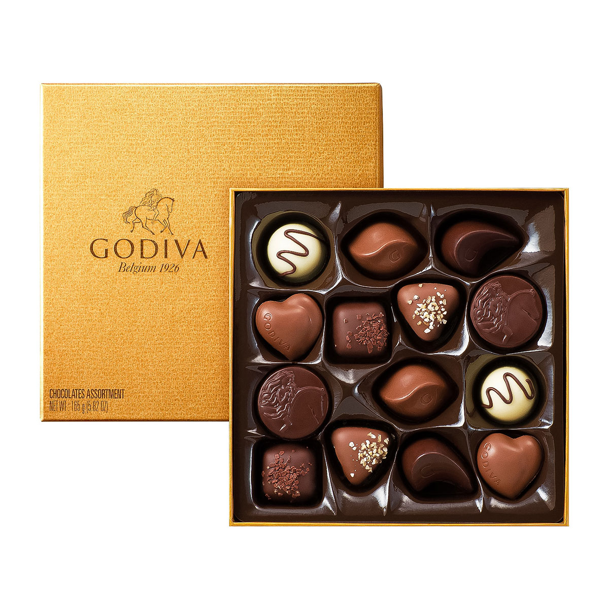 Godiva chocolate holiday gift boxes : Godiva red gift box with christmas treats delivery in